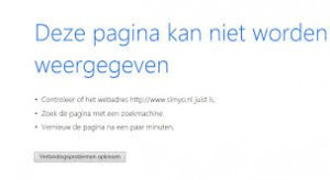 Pagina-kan-niet-worden-weergegeven page cannot be displayed (dutch)