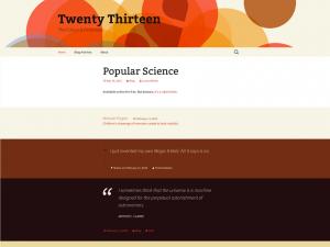 Wordpress Twenty Thirteen