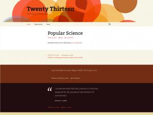 Wordpress Twenty Thirteen