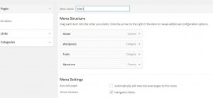 Duplicate WordPress-menu
